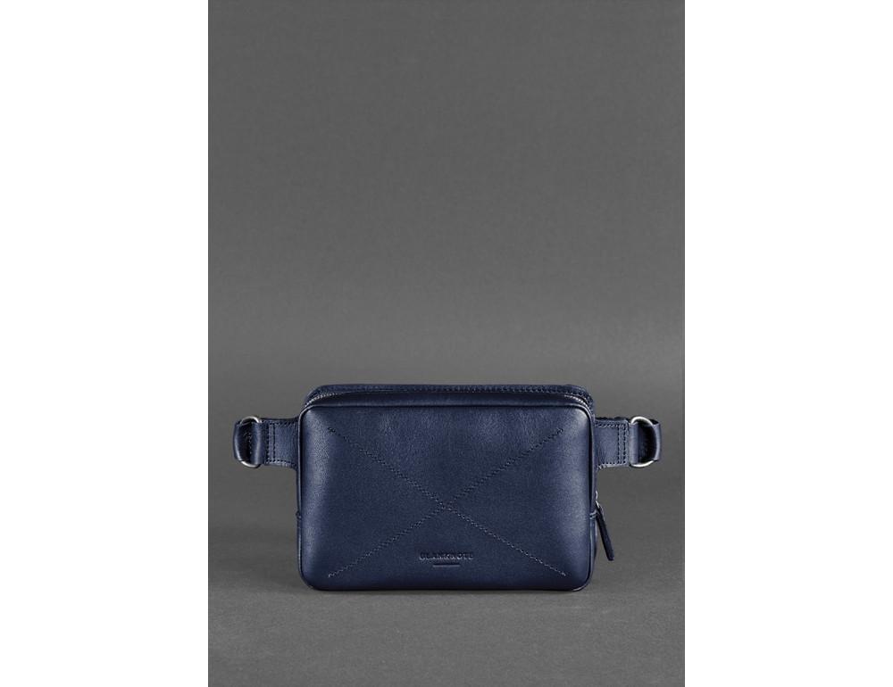 Тёмно-синяя сумка на пояс Blanknote BN-BAG-6-NAVY-BLUE - Фото № 2
