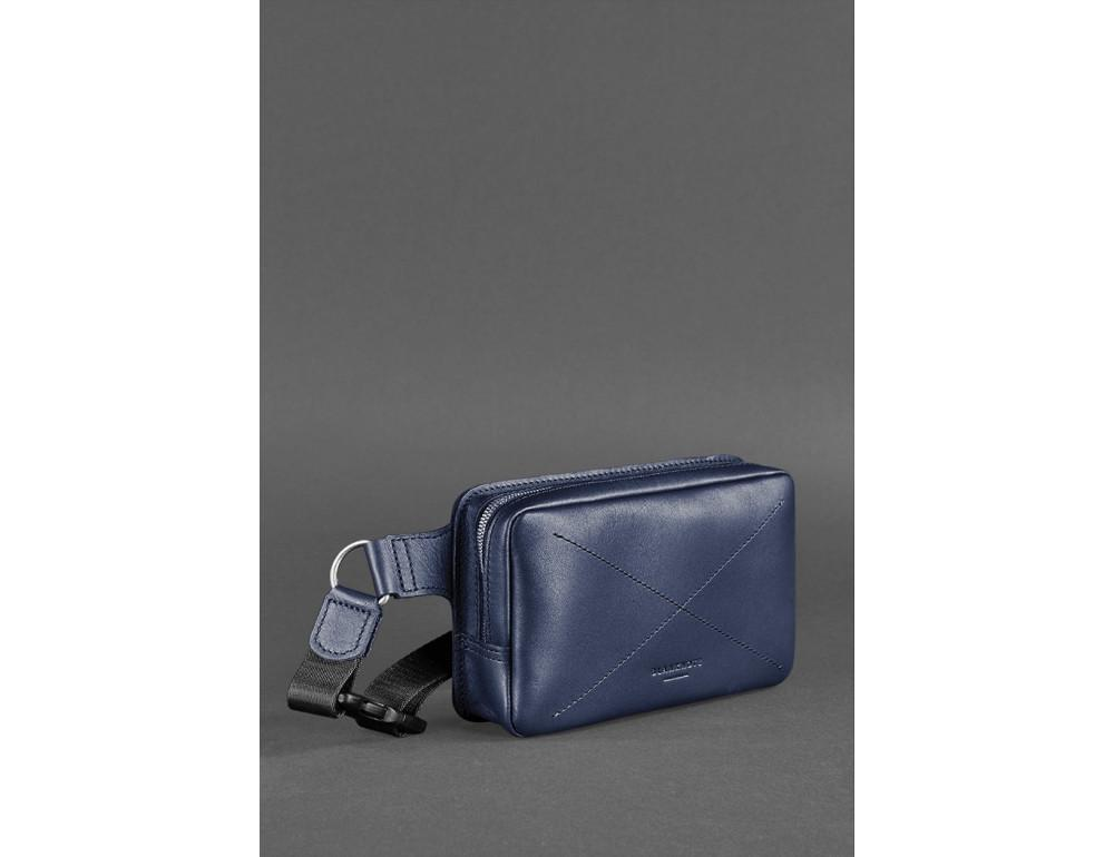 Тёмно-синяя сумка на пояс Blanknote BN-BAG-6-NAVY-BLUE - Фото № 3