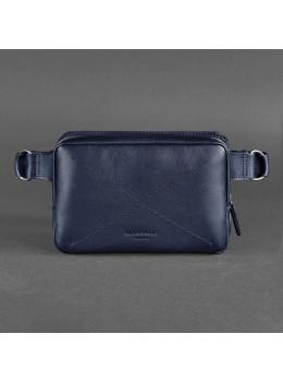Тёмно-синяя сумка на пояс Blanknote BN-BAG-6-NAVY-BLUE