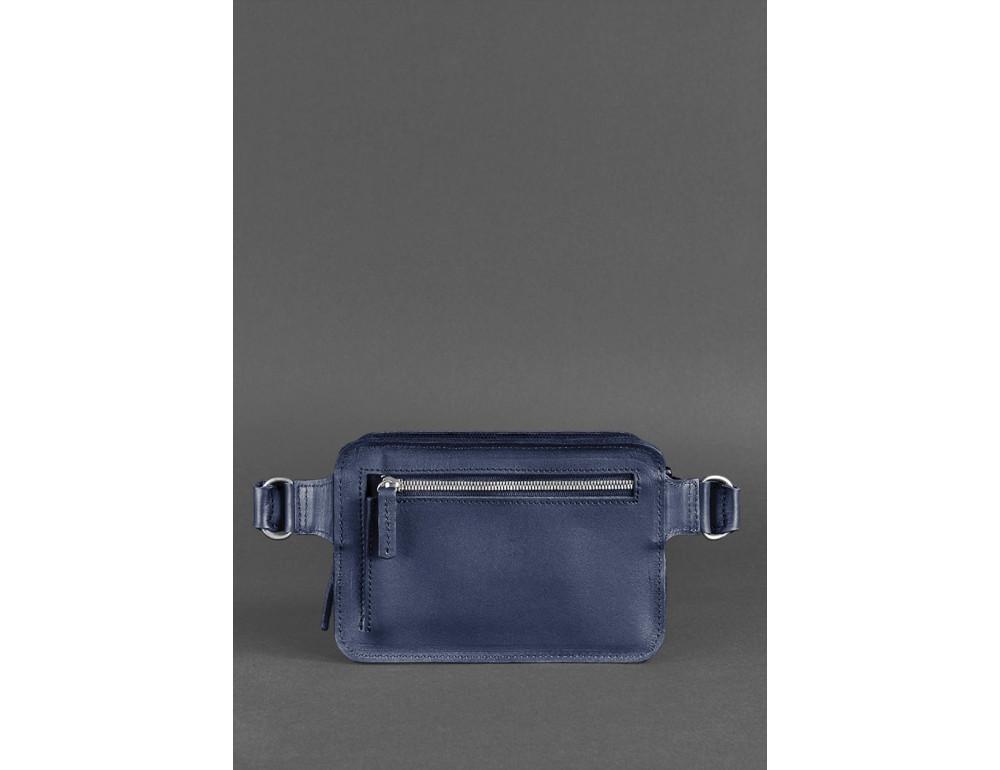 Тёмно-синяя сумка на пояс Blanknote BN-BAG-6-NAVY-BLUE - Фото № 4