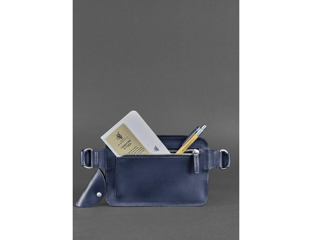 Тёмно-синяя сумка на пояс Blanknote BN-BAG-6-NAVY-BLUE - Фото № 5