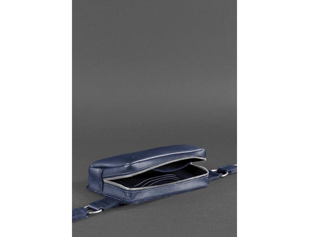 Тёмно-синяя сумка на пояс Blanknote BN-BAG-6-NAVY-BLUE - Фото № 6