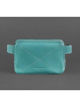 Бирюзовая кожаная сумка на пояс Blancnote BN-BAG-6-TIFFANY