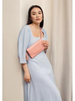Шкіряний клатч Еліс blanknote BN-BAG-7-pink-peach пудровий