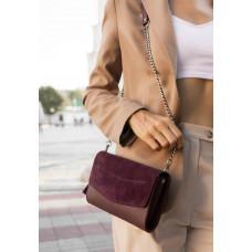 Женская кожаная сумочка-клатч Blancnote BN-BAG-7-VIN-VELUR
