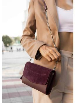 Жіноча шкіряна сумочка-клатч Blancnote BN-BAG-7-VIN-VELUR