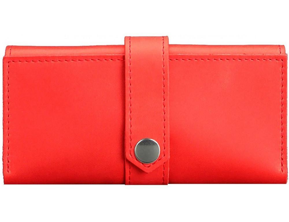 Жіночий кораловий гаманець зі шкіри Blanknote BN-PM-3-coral