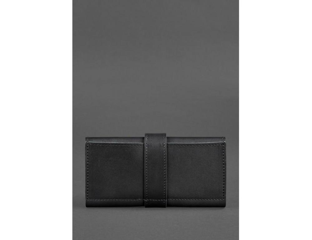 Чорний шкіряний гаманець Blanknote BN-PM-3-G - Фото № 3