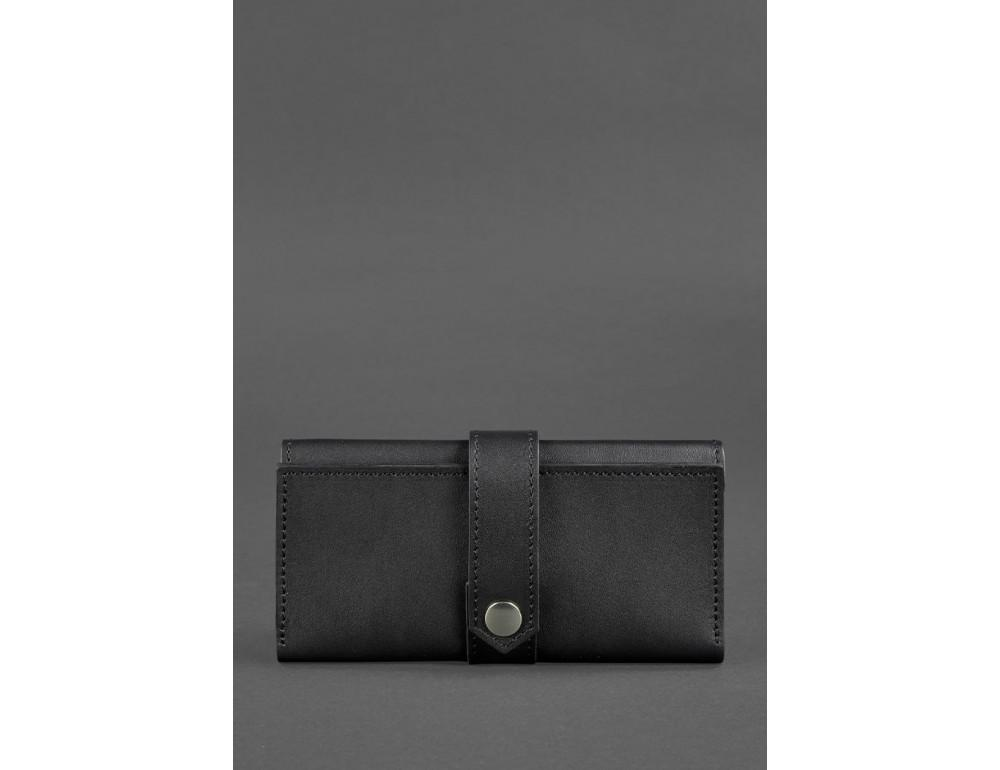 Чорний шкіряний гаманець Blanknote BN-PM-3-G - Фото № 5