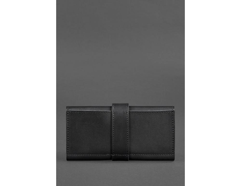 Чорний шкіряний гаманець Blanknote BN-PM-3-G - Фото № 6