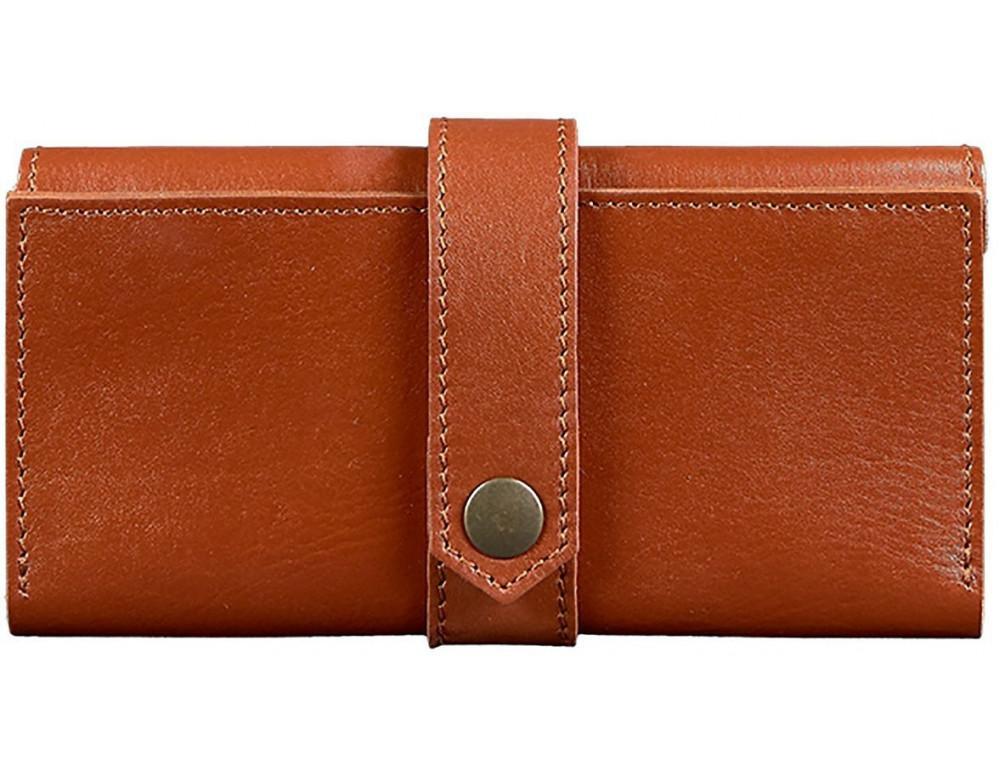 Світло-коричневий шкіряний портмоне BlankNote BN-PM-3-K