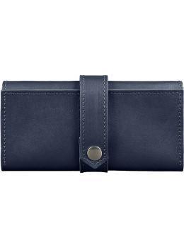 Синій шкіряний гаманець BlankNote BN-PM-3-navy-blue