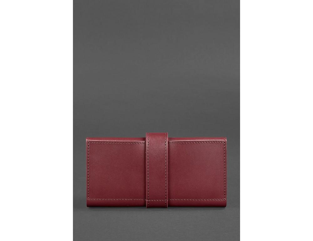 Женский виноградовый кошелек из кожи Blanknote BN-PM-3-vin - Фото № 4