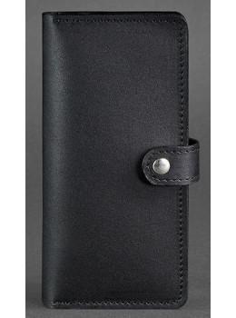 Чёрный кожаный кошелек Blanknote BN-PM-7-G