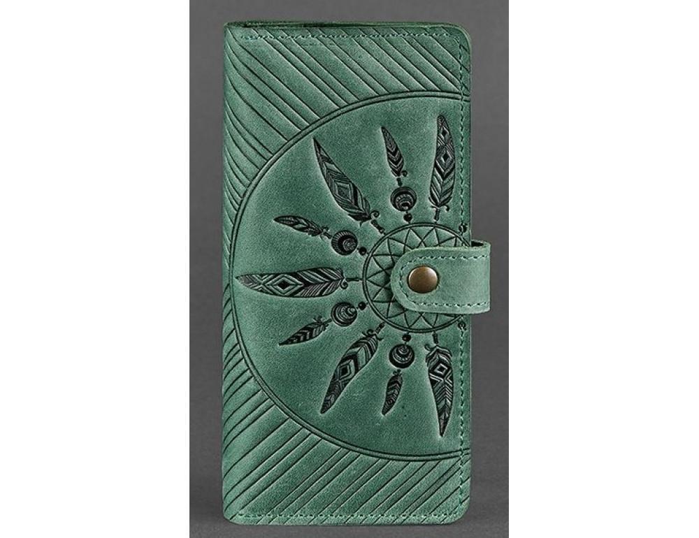 Смарагдовий гаманець Blanknote BN-PM-7-IZ-LS