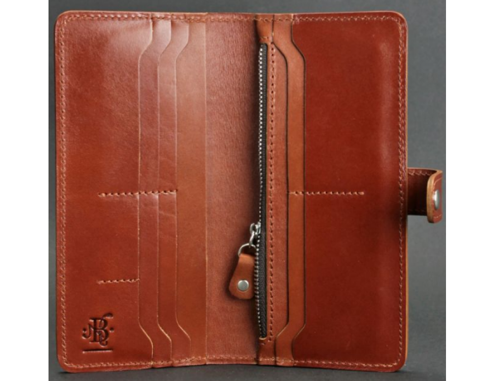 Коричневый кожаный кошелек Blanknote BN-PM-7-K - Фото № 2