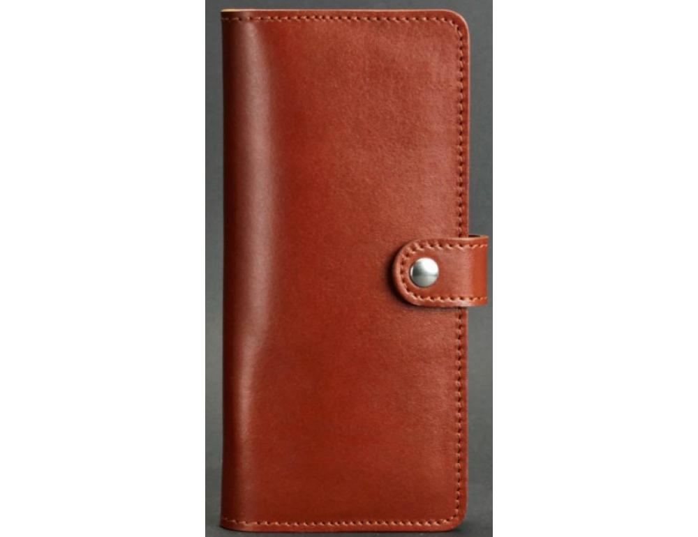Коричневий шкіряний гаманець Blanknote BN-PM-7-K