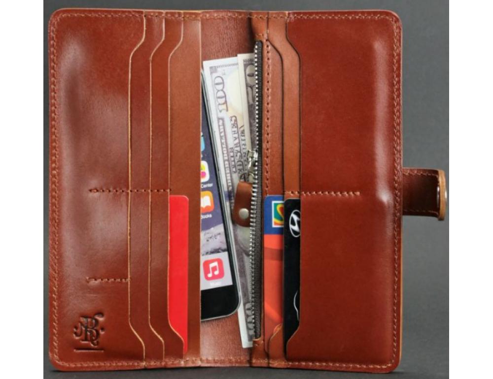 Коричневый кожаный кошелек Blanknote BN-PM-7-K - Фото № 3