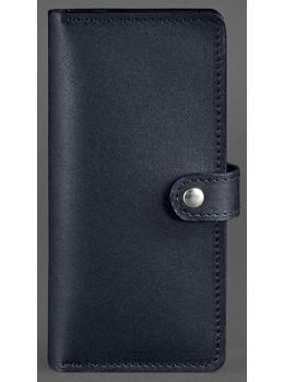 Тёмно-синий кожаный кошелек Blanknote BN-PM-7-NAVY-BLUE