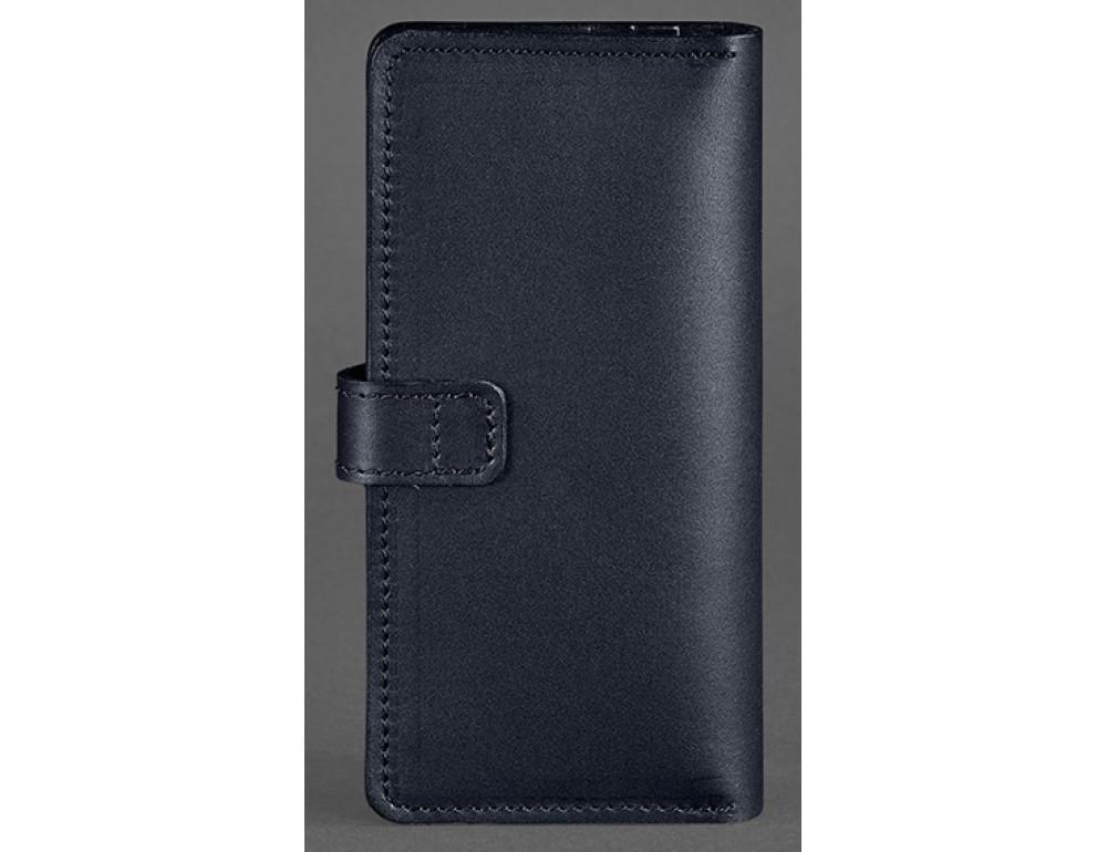 Тёмно-синий кожаный кошелек Blanknote BN-PM-7-NAVY-BLUE - Фото № 4