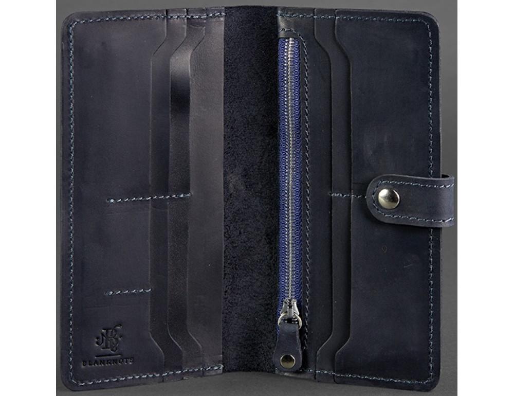 Тёмно-синий кожаный кошелек Blanknote BN-PM-7-nn - Фото № 3
