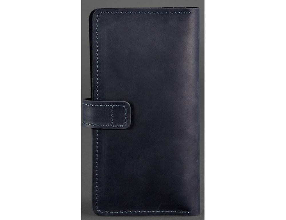 Тёмно-синий кожаный кошелек Blanknote BN-PM-7-nn - Фото № 4