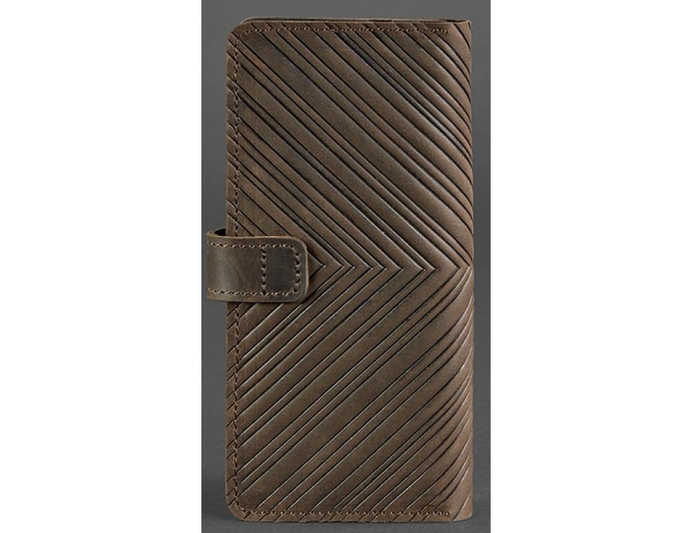 Тёмно-коричневый кожаный кошелек Blanknote BN-PM-7-o-ls - Фото № 4