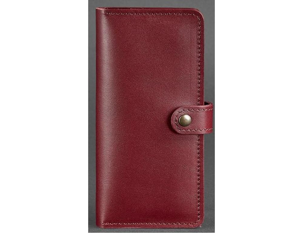 Виноградний шкіряний гаманець Blanknote BN-PM-7-vin