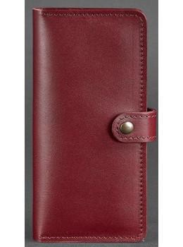Виноградовый кожаный кошелек Blanknote BN-PM-7-vin