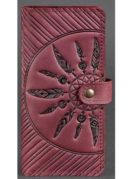 Бордовый кошелек Blanknote BN-PM-7-VIN-LS
