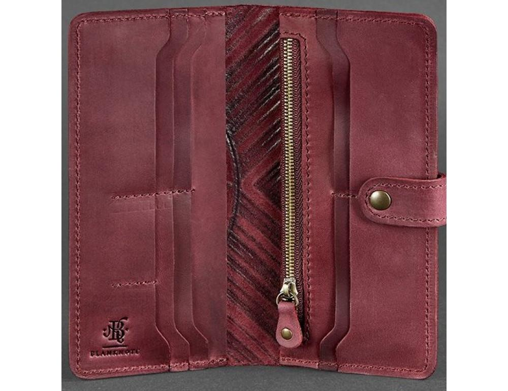 Бордовый кошелек Blanknote BN-PM-7-VIN-LS - Фото № 3