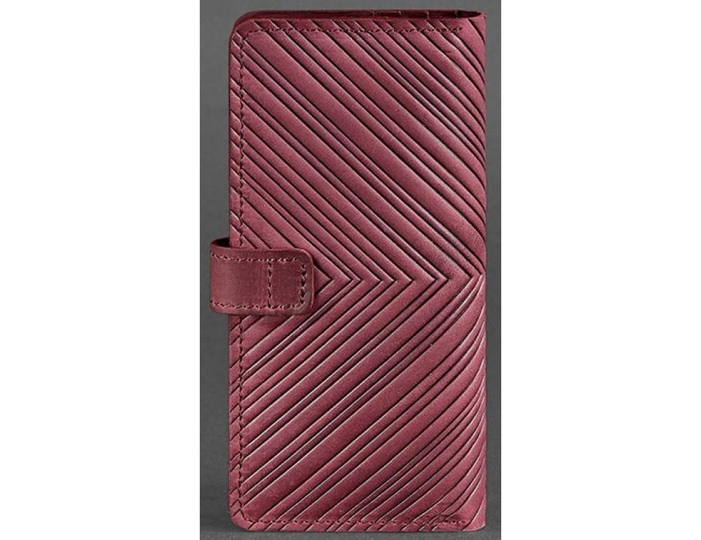 Бордовый кошелек Blanknote BN-PM-7-VIN-LS - Фото № 4