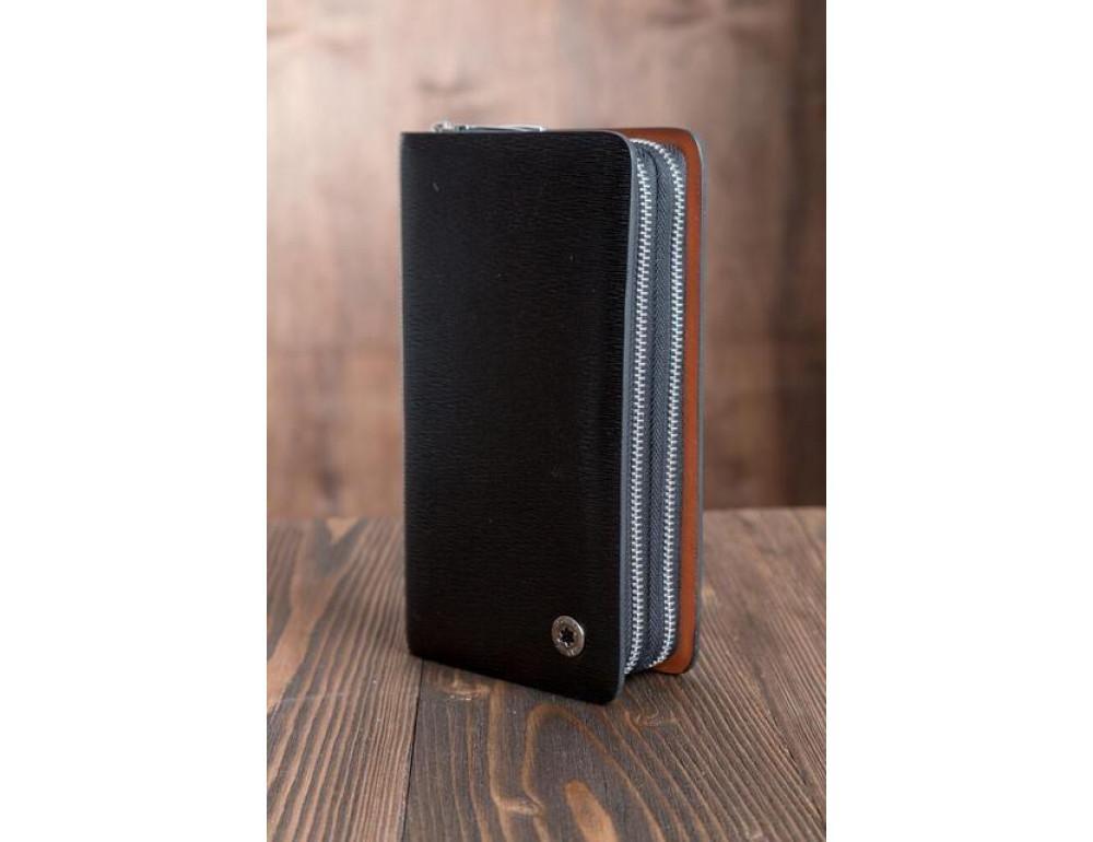 Кожаный клатч Montblanc Wallet11-7253 - Фото № 5