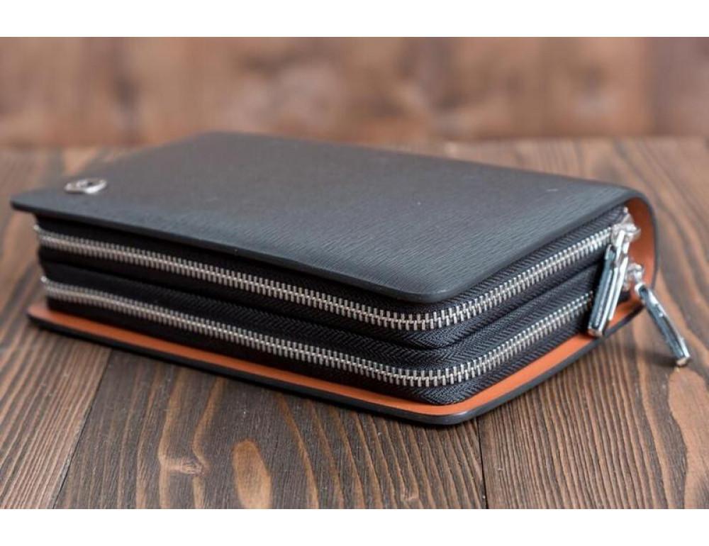 Кожаный клатч Montblanc Wallet11-7253 - Фото № 6