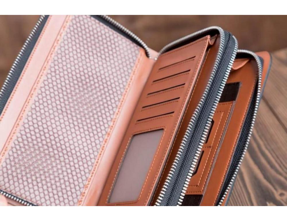 Кожаный клатч Montblanc Wallet11-7253 - Фото № 9