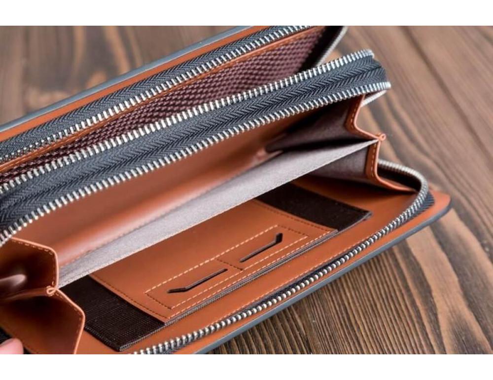 Кожаный клатч Montblanc Wallet11-7253 - Фото № 2