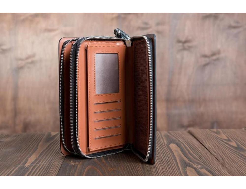 Кожаный клатч Montblanc Wallet11-7253 - Фото № 3