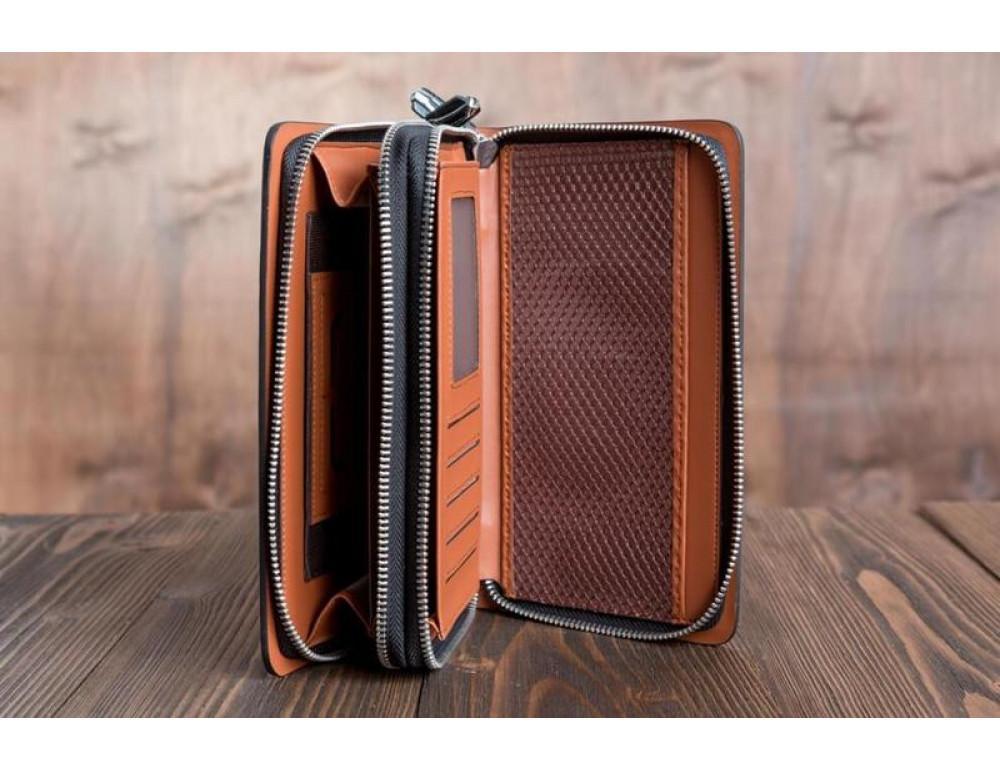 Кожаный клатч Montblanc Wallet11-7253 - Фото № 4