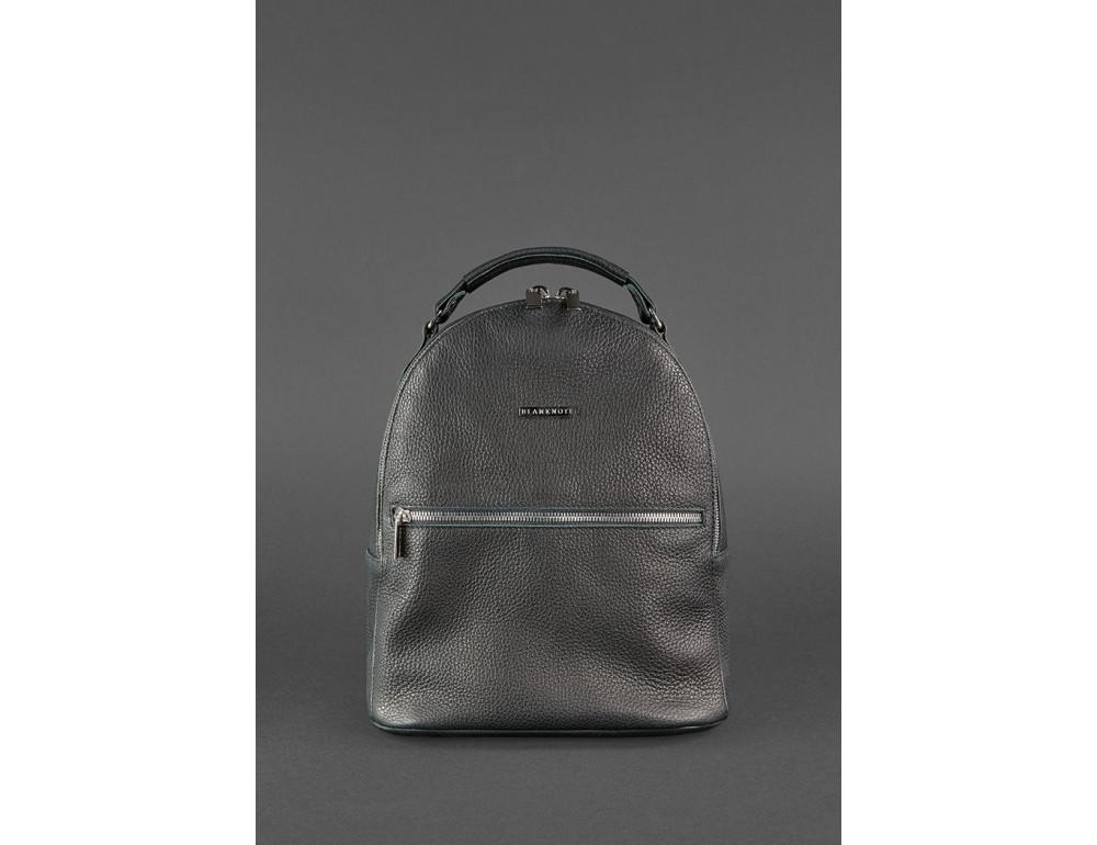Женский кожаный мини-сумка-рюкзак Kylie BN-BAG-22-onyx черный - Фото № 2