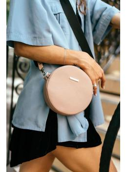 Женская круглая сумочка Tablet BN-BAG-23-crem-brule бежевая