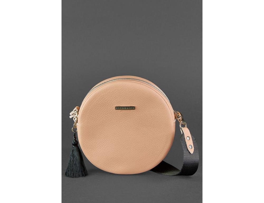 Женская круглая сумочка Tablet BN-BAG-23-crem-brule бежевая - Фото № 2