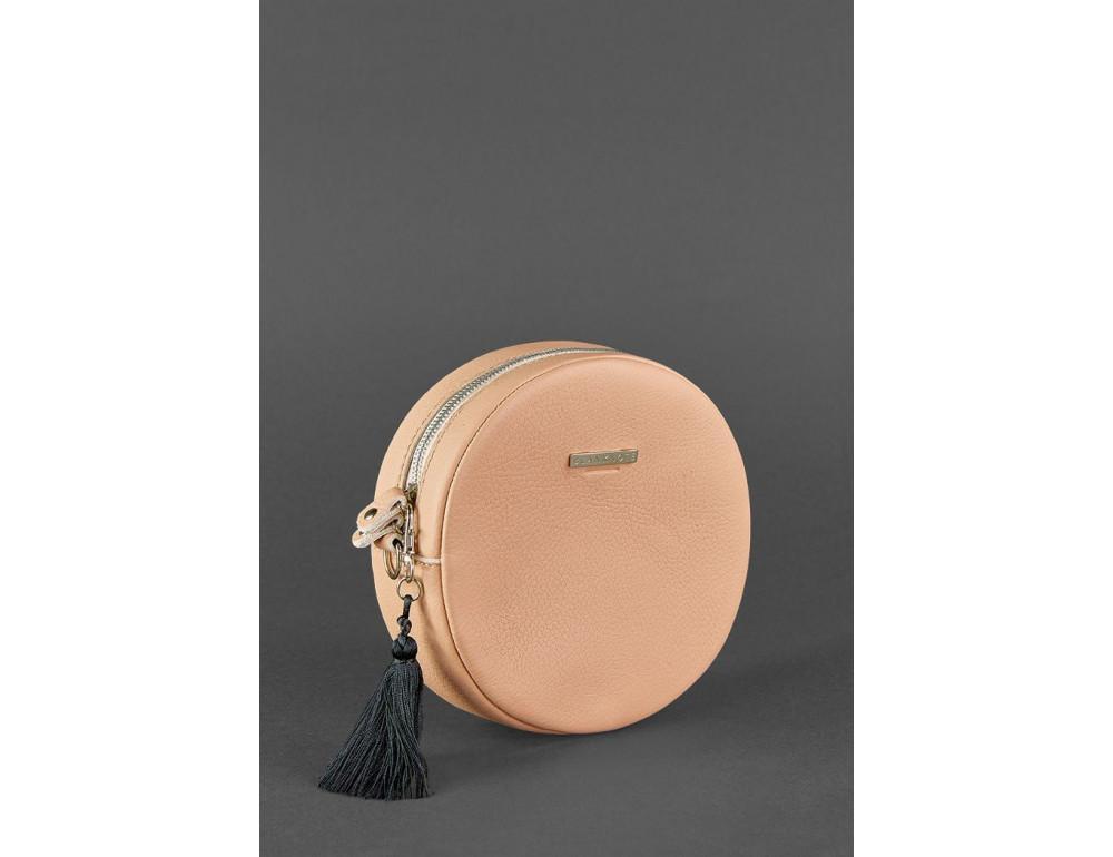 Женская круглая сумочка Tablet BN-BAG-23-crem-brule бежевая - Фото № 3