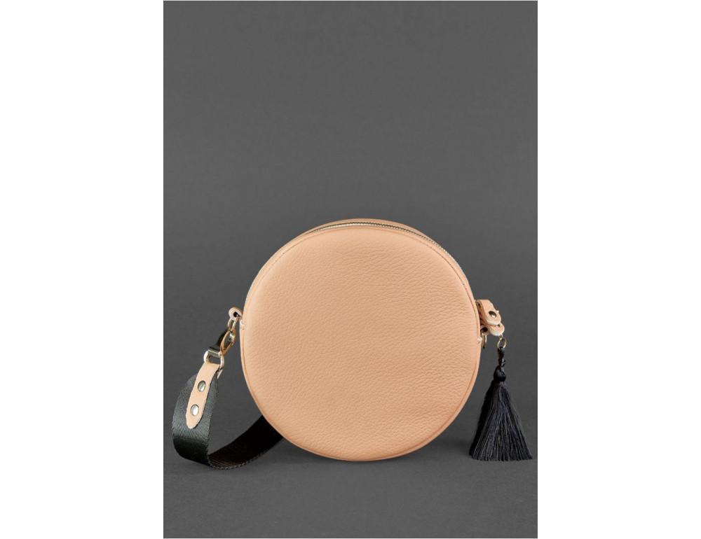 Женская круглая сумочка Tablet BN-BAG-23-crem-brule бежевая - Фото № 4
