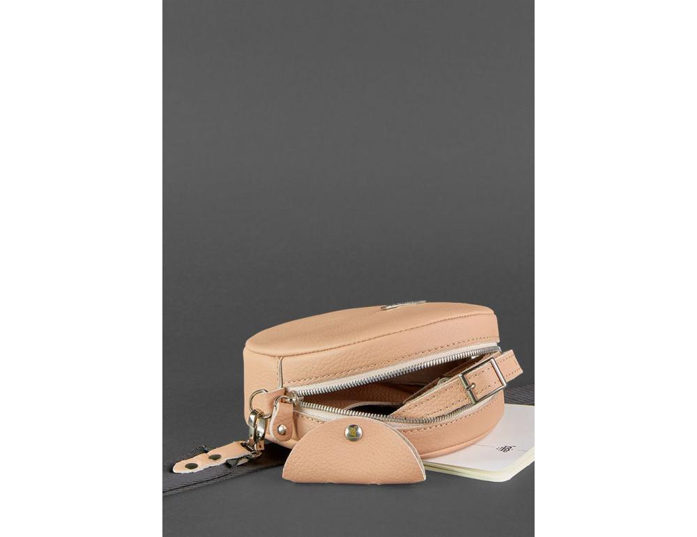 Женская круглая сумочка Tablet BN-BAG-23-crem-brule бежевая - Фото № 5