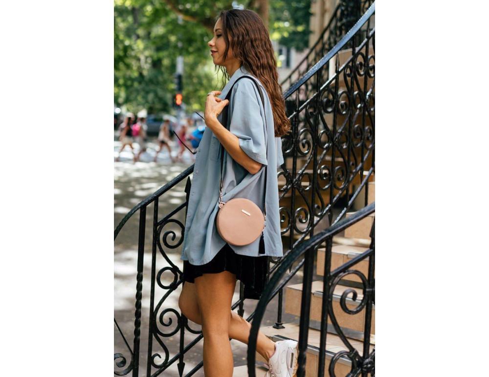 Женская круглая сумочка Tablet BN-BAG-23-crem-brule бежевая - Фото № 6
