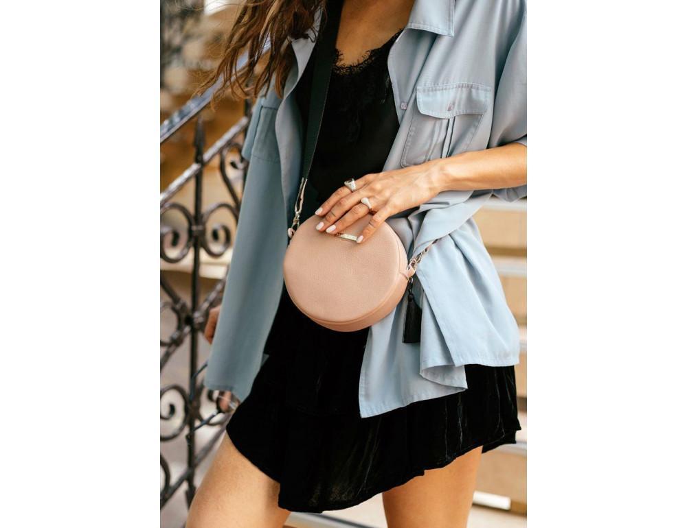 Женская круглая сумочка Tablet BN-BAG-23-crem-brule бежевая - Фото № 8