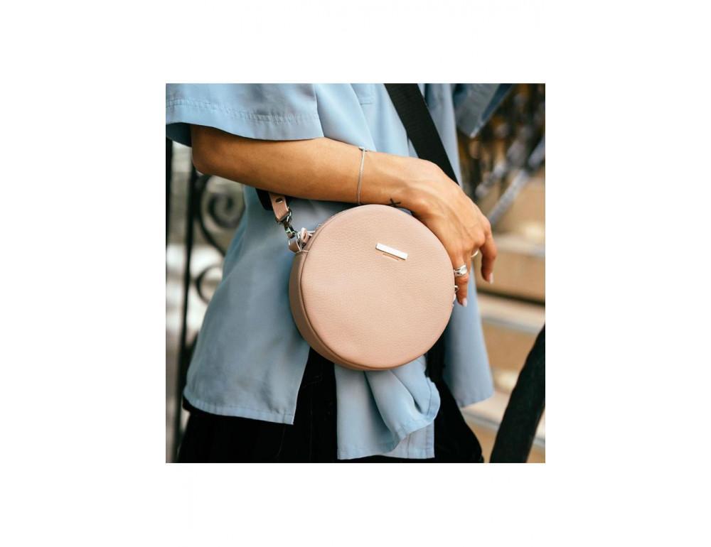 Женская круглая сумочка Tablet BN-BAG-23-crem-brule бежевая - Фото № 10