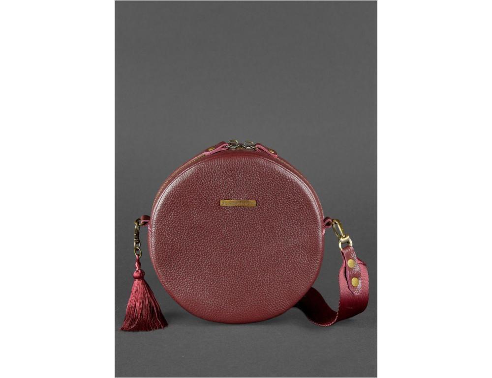 Женская круглая сумочка Tablet BN-BAG-23-marsala марсала - Фото № 2