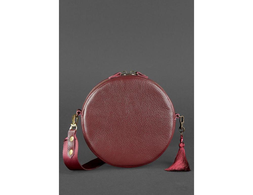 Женская круглая сумочка Tablet BN-BAG-23-marsala марсала - Фото № 4