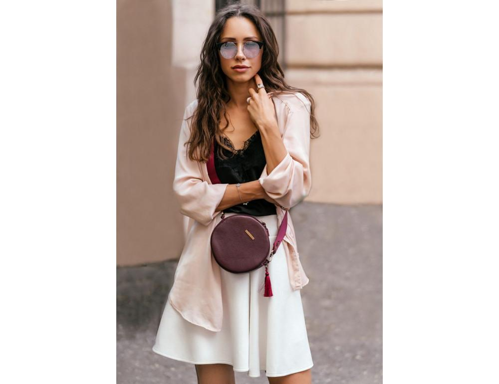 Женская круглая сумочка Tablet BN-BAG-23-marsala марсала - Фото № 6